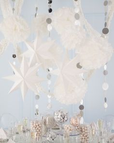 """See+the+""""Paper+Party""""+in+our+White+Wedding+Decorations+and+Favors+gallery"""
