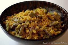 Day 303 - Purple Broad Beans 'Usli' (Garbanzo & broad bean stir fry)