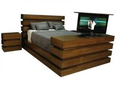 Le Bloc bed show makes the magic happen Motorized Tv Lift, Bedroom Furniture, Magic, Cabinet, Home Decor, Bed Furniture, Clothes Stand, Decoration Home, Room Decor