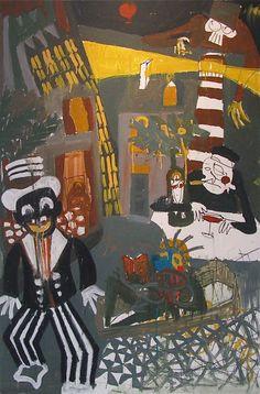 """Antoine PARIS """"Ma Femme m'attend dans chaque port"""" très belle toile de ce jeune artiste français à découvrir à l'Espace Seven. www.seven-gallery.com"""