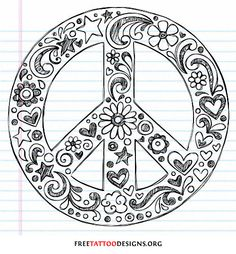 Peace sign tattoo drawing