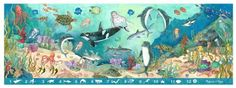 Melissa & Doug Search and Find Beneath The Waves Floor, 48 Pieces by Melissa & Doug. $12.99. Easy-Clean surface keeps puzzle looking new. Promotes hand-eye coordination and problem-solving skills. Over 4' long. Includes 48 extra-thick cardboard pieces. Completed puzzle features search-and-find activity. From the Manufacturer                This extra-large search and find puzzle offers an extra activity when completed. The 48 sturdy cardboard pieces assemble to rev...