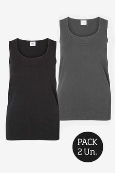 Pack de 2 Camisetas lactancia básicas tirantes - Tetatet - Camisetas de Lactancia y Vestidos de Lactancia