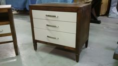 custom two toned bedside chest - solid maple furniture