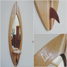 Recent customer ordered this personalised board for their daughter Lily's birthday!1 metre tall mirror with a tealight shelf. Personalised with a mother of pearl inlay to make it extra special! All handcrafted #surf #surfboard #surfing #surfinspiration #inspo #surfsup #surflife #handmade #wood #woodwork #sycamore #walnut #woodcraft #woodworking #picture #pictureframe #home #decor #homedecor #cornwall #england #unique #crafts #craftsmanship #follow #mirror #surfers #oak de bespoke_surf