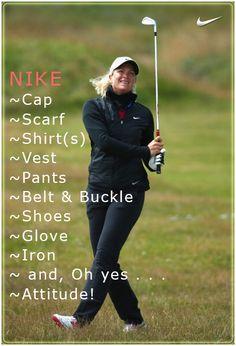 Suzann Pettersen of Norway ~ LPGA Professional Golfer