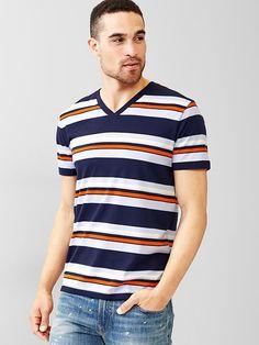 4135858913e Essential multi-stripe V-neck t-shirt Listras