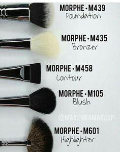 Brochas para cada función.  #MorpheBrushes #Expertos