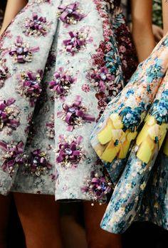 The ribbon embellishment is amazing. mari katrantzou, pearl, fashion wonderlust, mary katrantzou, detail embellish, sidewalk style, mode, embellishments