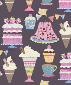 fun cakes and icecreams like the textures and patterns @claire scott at http://trinitydesignsart.blogspot.com
