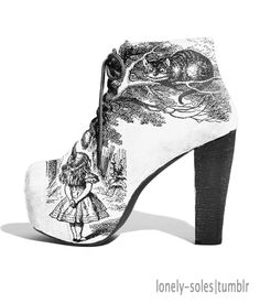 alice in wonderland shoes! These are aaaammmaaazzziiinnnggg! High Heel Boots, Heeled Boots, Bootie Boots, Shoe Boots, High Heels, Shoes Heels, Pumps, Dream Shoes, Crazy Shoes