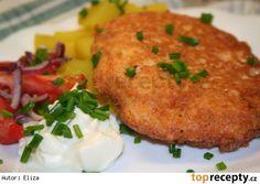 Sýrová omeleta s bramborem ala Smažák Tandoori Chicken, Meat, Ethnic Recipes, Cooking