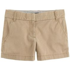 "J.Crew 3"" Chino Short ($35) ❤ liked on Polyvore featuring shorts, bottoms, pants, short shorts, short chino shorts, j. crew shorts, chino shorts and zipper shorts"