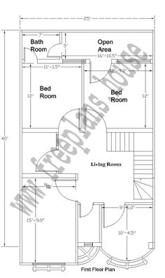 18x36 feet ground floor plan plans pinterest photo 35x60 house plans