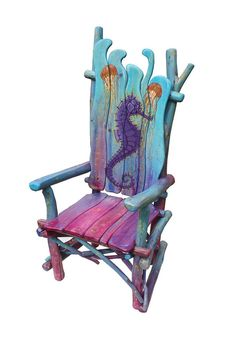 Seahorse Rustic Stick Chair