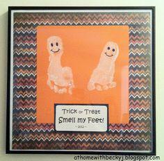 Fall toddler art!  ha  brings back memories