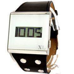 DW336G New Black Band Square PNP Shiny Silver Watchcase Men Women Digital Watch