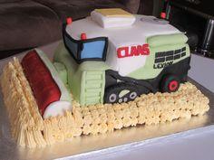 Claas Combine Harvester cake.