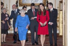 Live: Kate Middleton and the Queen host actors' reception at Buckingham Palace