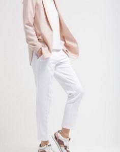 Minimum HALLE Spodnie materiałowe white