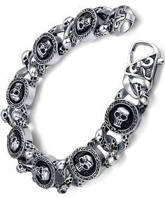 Ai Stainless Steel Jewelry – Pulsera con adorno hecho con acero inoxidable para hombre