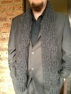 Masculine Manly Man's Scarf