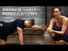 DDP YOGA Broken Table Modifications Video by Certified Instructors: Christina Russell & Kevin Russo
