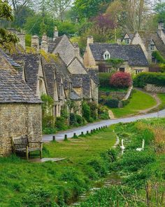 Arlington Row, Bibury, Gloucestershire Cotswolds by Phil Sproson Photography Places Around The World, Around The Worlds, Arlington Row, Wanderlust Hotel, England Countryside, Destinations, Destination Voyage, Britain, Beautiful Places