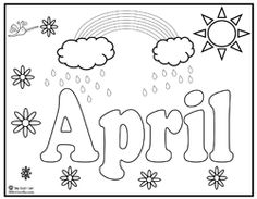 april showers coloring pages 04
