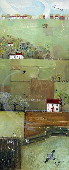 Flying Across the Fields ~ by Kerry Buck
