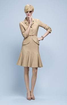 @roressclothes closet ideas #women fashion outfit #clothing style apparel beige dress