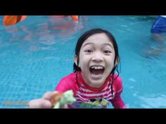 Bad Baby GIANT BALLOONS SURPRISE TOYS in huge pool Toy Freaks Family Fails Victoria Annabelle Freak - YouTube