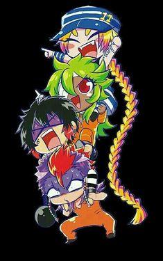 Uno ,nico ,jyugo and rock Nanbaka Anime, Anime Kawaii, All Anime, Anime Chibi, Anime Art, Art Manga, Animes On, Chibi Characters, Girls Anime