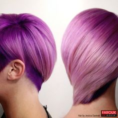 Vibrant Violet Hair with CHI Chromashine Color (click for formula)