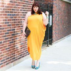 1f56337eca442 Plus Size Gold Goddess  Lane Bryant One Shouldered Draped Dress