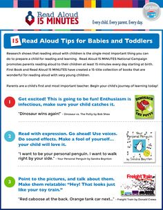 Parents are a child's first and most important teacher. Begin your child's journey of learning today with our 15 Read Aloud Tips for Babies and Toddlers.