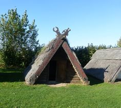 Viking hut, mostlyu used when having a summer market. Trelleborg, Slagelse, Denmark