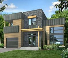 Dynamic Contemporary House Plan - 80782PM   Contemporary, Modern, Canadian, Metric, Narrow Lot, 2nd Floor Master Suite, Butler Walk-in Pantry, CAD Available, PDF   Architectural Designs