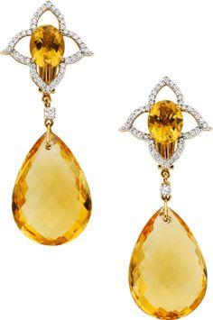 Citrine Diamond Gold Earrings Piranesi The Feature Pear Shaped Briolette And Oval Available At 2017 April 29 Jewelry Signature
