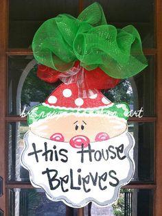 Santa Claus Christmas Door Hanger