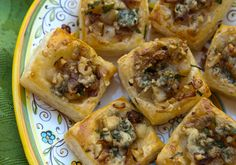 Italian Food Forever » Caramelized Onion, Pear & Blue Cheese Bites