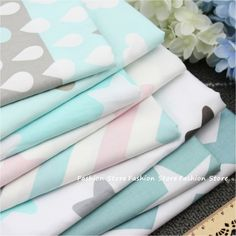 Find More Fabric Information about Twill 8 pcs Cartoon Star and Wave Cotton Fabric DIY Patchwork Sewing Kids Bedding Bags Cloth Textiles sheet Fabric 40*50cm,High Quality cotton dress fabric,China cotton fabric flower Suppliers, Cheap cotton single jersey fabric from Housewear & Furnishings on Aliexpress.com