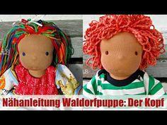 Nähanleitung Waldorfpuppe: Der Kopf   Klassisches Sami Doll Schnittmuster   Teil 1 - YouTube