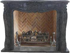 Blickfang für Ihr Zuhause: Grauer Marmorkamin   Naturstein  Modell: HT1885BG, SHI-Serie