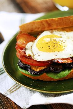 B.E.E.T sandwiches (bacon, egg, eggplant & tomato)