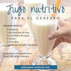 Healthy Juices, Healthy Smoothies, Healthy Drinks, Healthy Tips, Smoothie Recipes, Healthy Recipes, Healthy Shakes, Latin Food, Health Facts