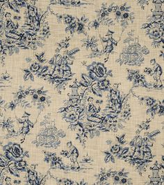 Home Decor Print Fabric-Jaclyn Smith Alyssa-Indigo