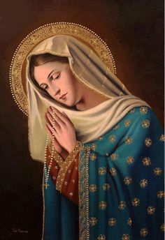 "levanta-te: "" Tu és bendita, ó Mãe! "" I do like to see Our Lady in her starry mantle! Blessed Mother Mary, Divine Mother, Blessed Virgin Mary, Religious Pictures, Religious Icons, Religious Art, Immaculée Conception, Images Of Mary, Holy Rosary"