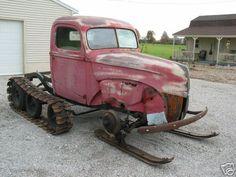 Custom Ford Snow machine