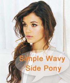 Simple Wavy Side Pony